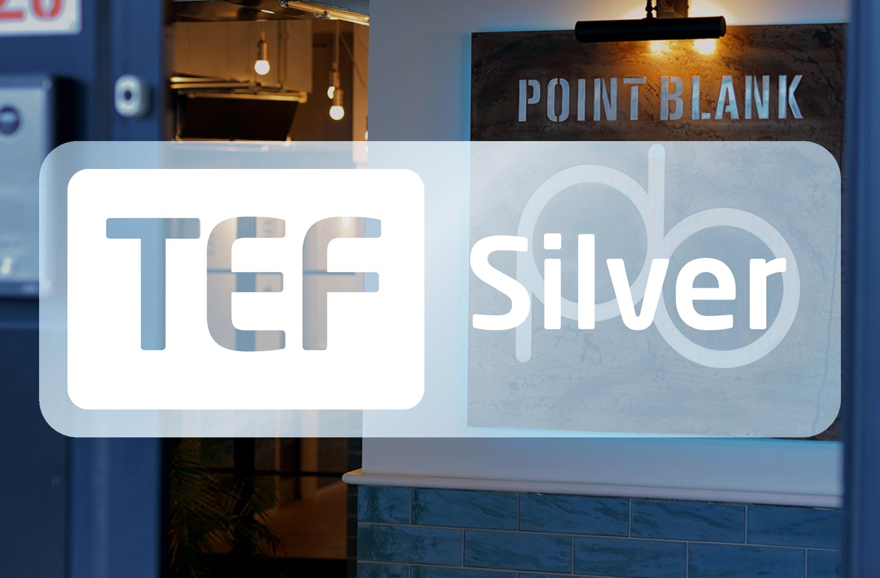 Point Blank Earns Silver TEF Award